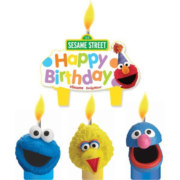 A Sesame Street birthday cake is not complete without these
