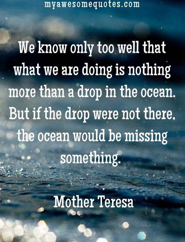 Mother Teresa Quote About Lifeu0027s Purpose