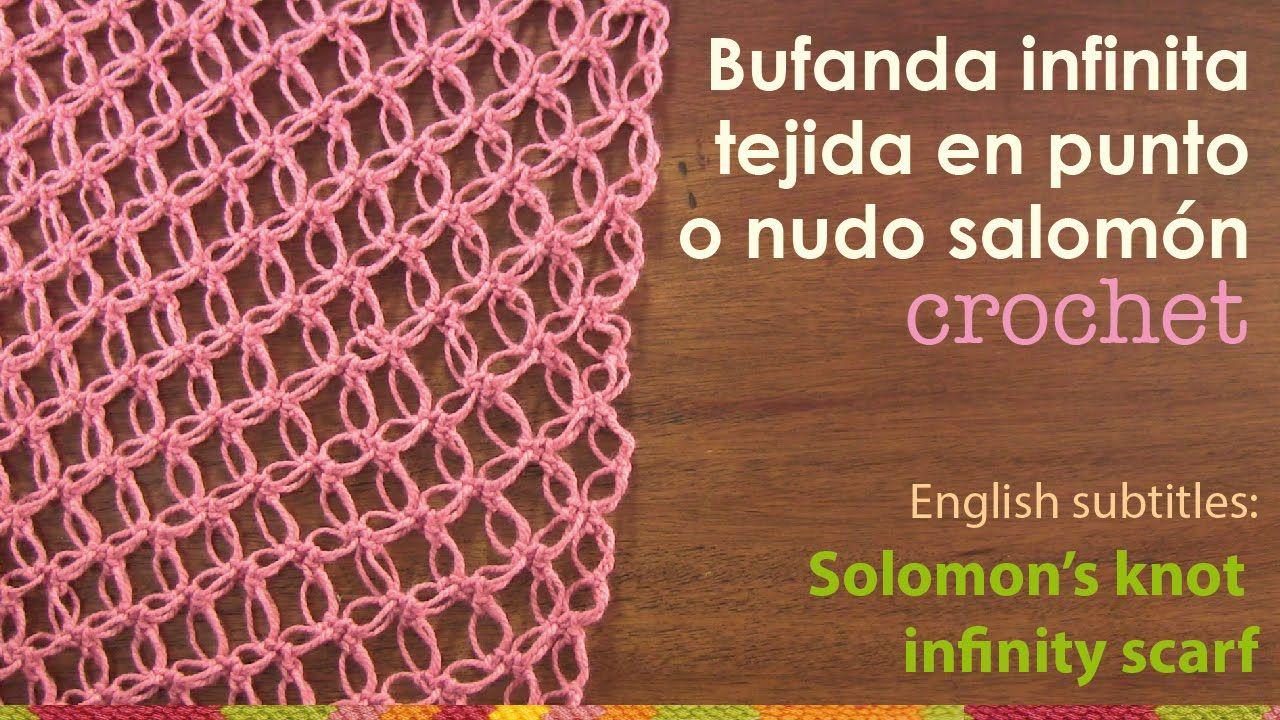 Bufanda infinita tejida en el punto nudo salomón - English subtitles ...