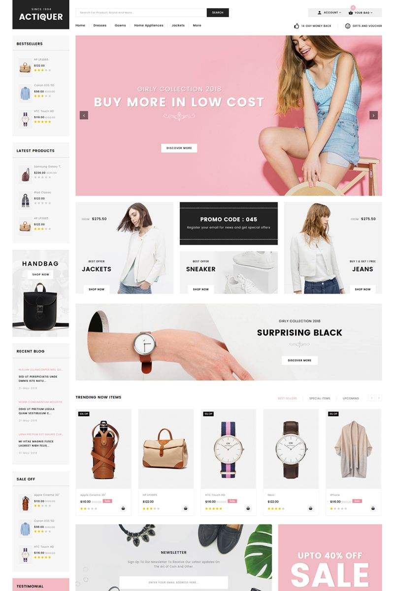 Actiquer Opencart Template 71516 Shopify Design Shopify Website Design Ecommerce Web Design