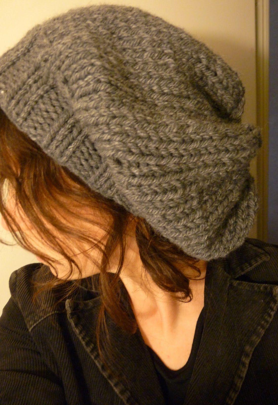 modele gratuit bonnet slouch