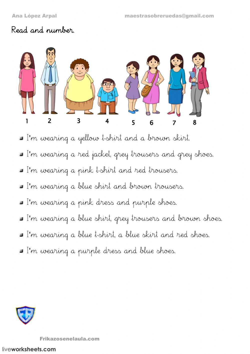 Clothes interactive and downloadable worksheet. You can do
