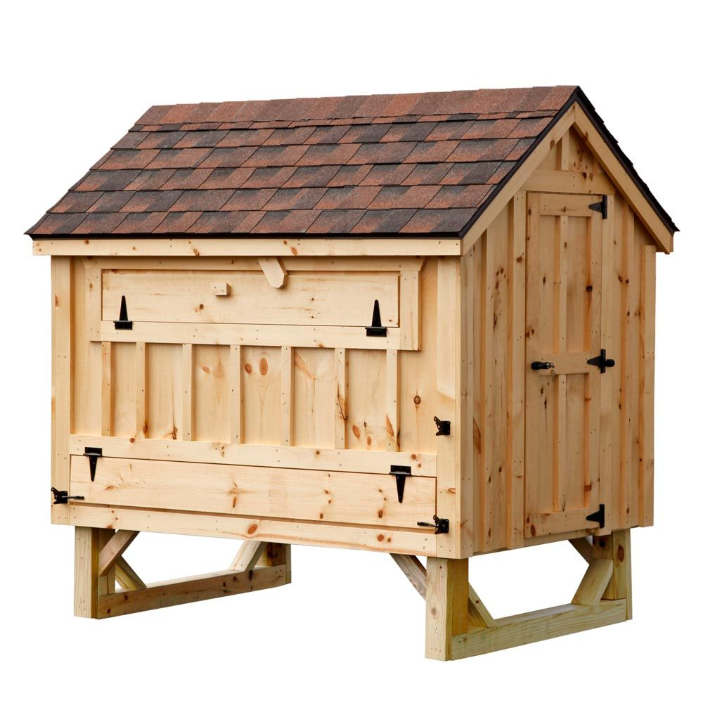 cottage style 4x6 chicken coop up to 15 chickens pet chickens