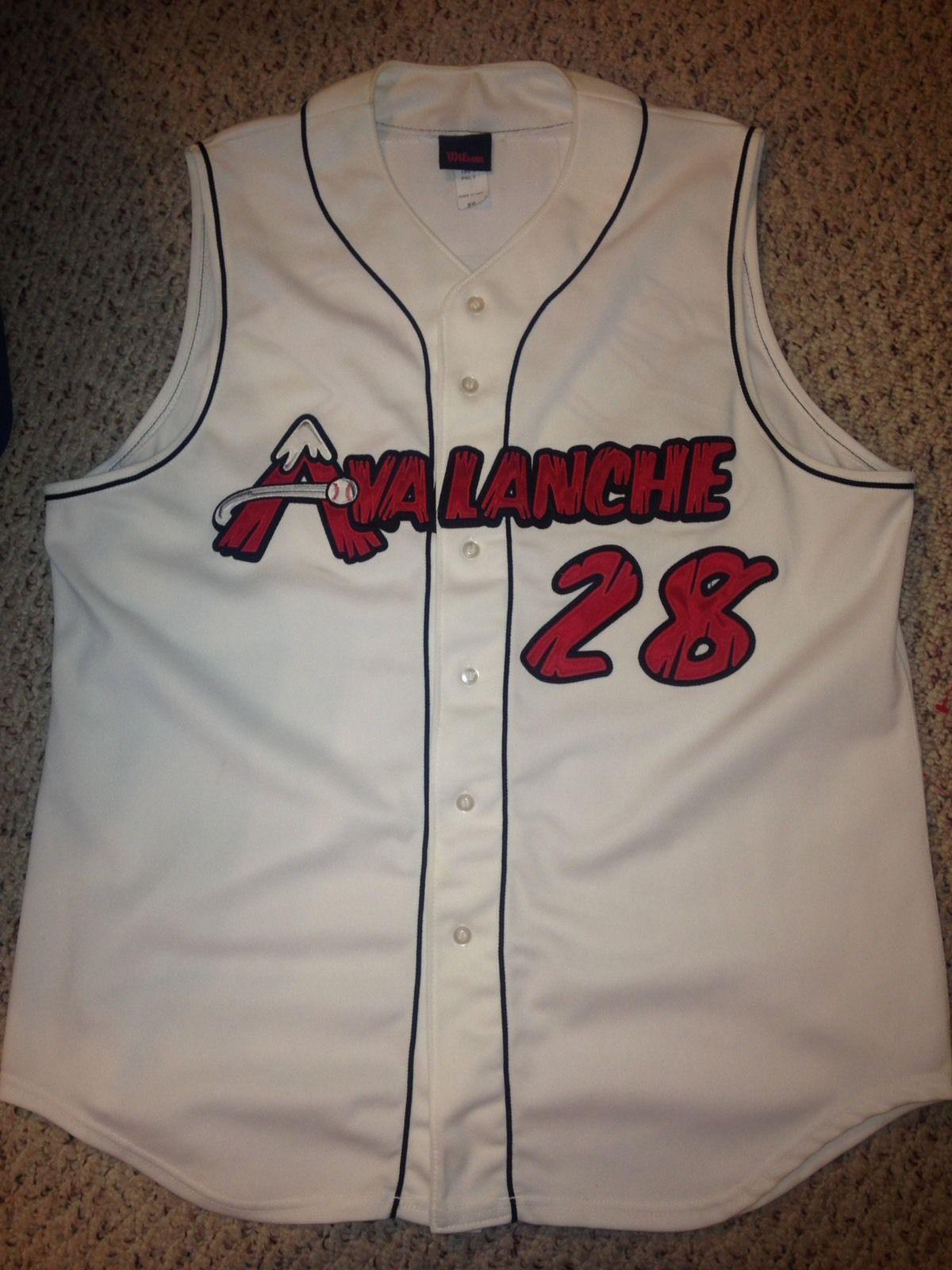 c816c4e60 2006 Salem Avalanche Rob Stiehl Game Worn Baseball Jersey Size 50 ...