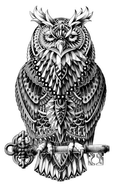9e9d30a3f Great Horned Owl...might be cool tattoo...knowledge, key, etc. | Ink ...
