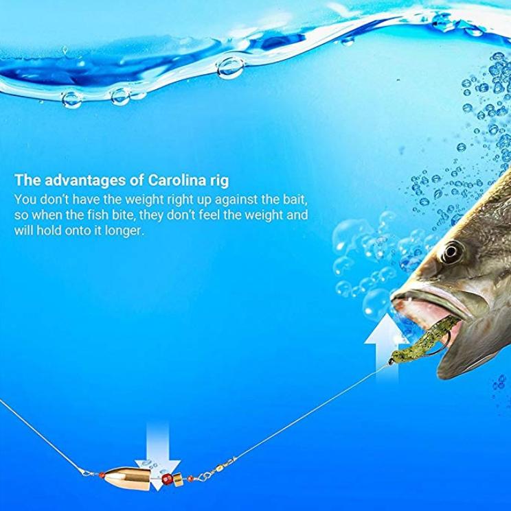 8pcs/lot Mixed 4 Large Size Fishing Carolina Ready Rigs