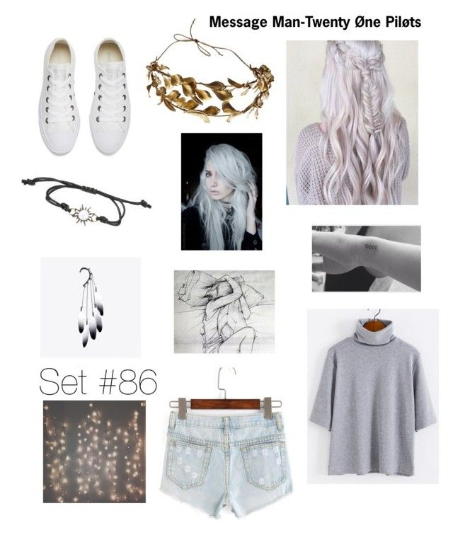 """S i l e n c e"" by emma-natalie ❤ liked on Polyvore featuring Converse"