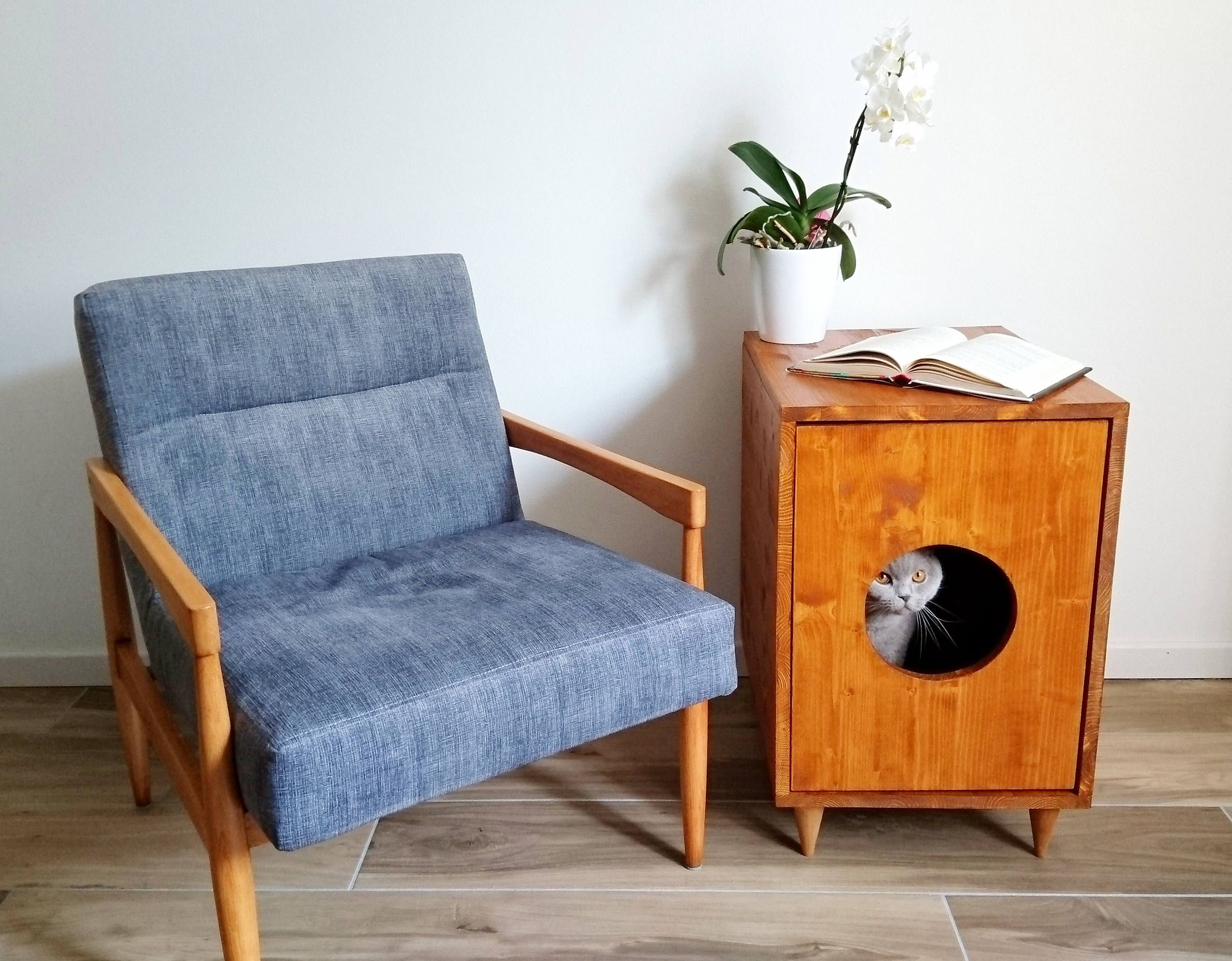 Cat Litter Box Cover, Pet Furniture, Cat House, Modern