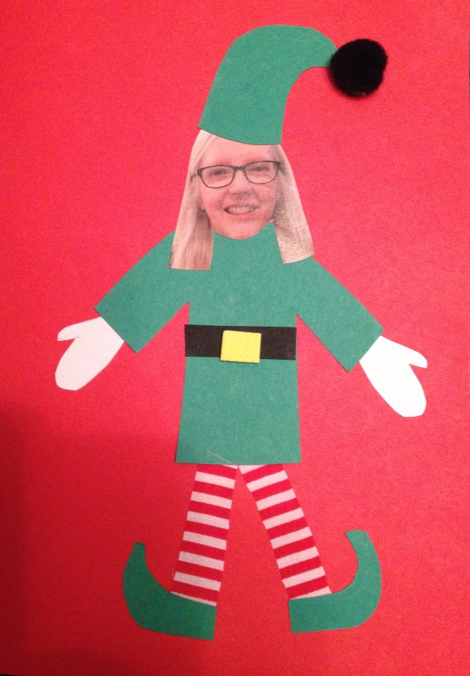 My Example To The Kids Of Their Elf Yourself Christmas Card I Gave Them A Template For E Elf Christmas Card Christmas Cards Kids Christmas Cards Handmade Kids