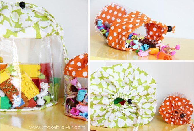 Clear Toy Storage Bags With Drawstring Closure Make It And Love