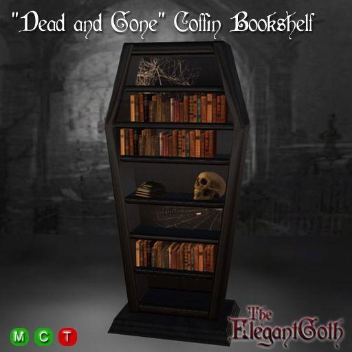 Dead And Gone Coffin Bookshelf Gothic Furniture Piece Psychobilly Pinterest Gothic