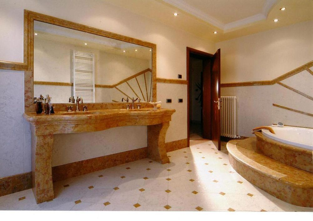 Rivestimenti bagno in marmo formenton forment