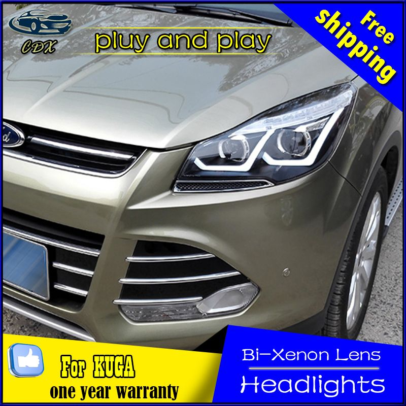 Car Styling Head Lamp For Ford Kuga Escape Led Headlight 2014 2016