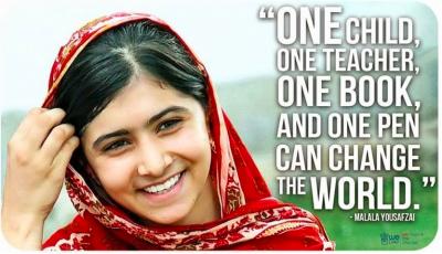 Malala Bekommt Den Friedensnobelpreis Malala Yousafzai Quotes Malala Quotes Malala Yousafzai