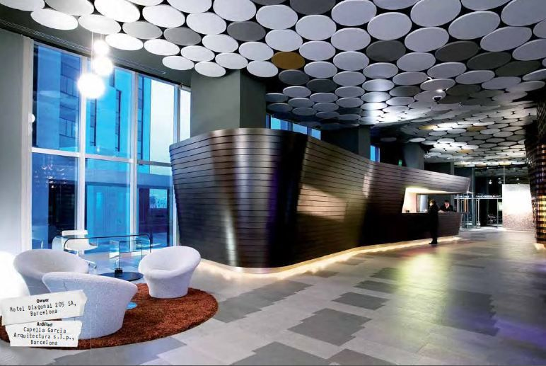 armstrong ceilings acoustic ceiling panels - hotel silken diagonal