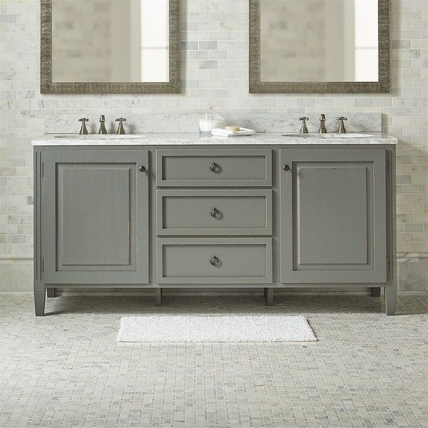 crate barrel britta double vanity featuring polyvore home home rh pinterest com