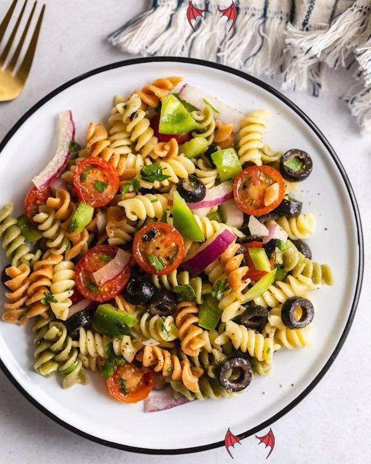 Vegan Pasta Salad Quick & Easy VEGAN Pasta Salad this
