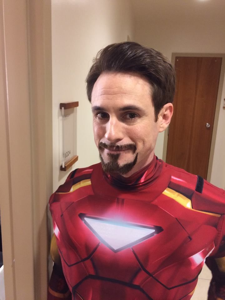 Matt as Iron Man/Tony Stark