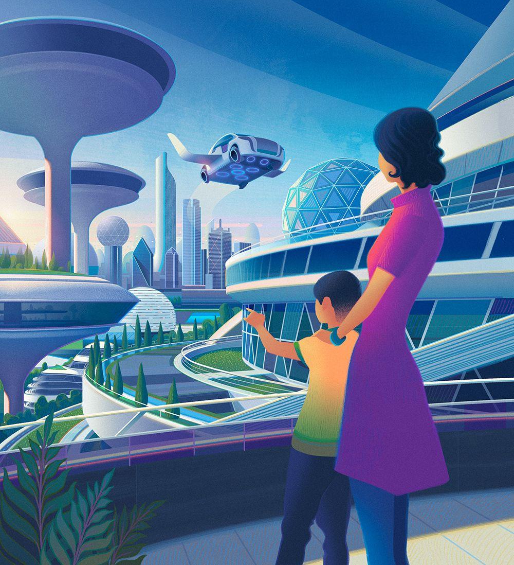 люди картинки будущего действия города