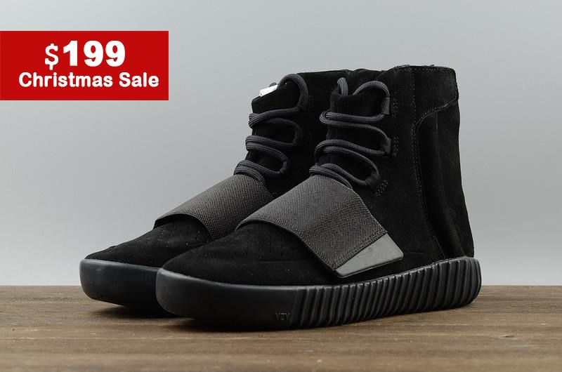 Authentic Top Adidas Yeezy Boost 750 Suede All Black For Women Outlet Online