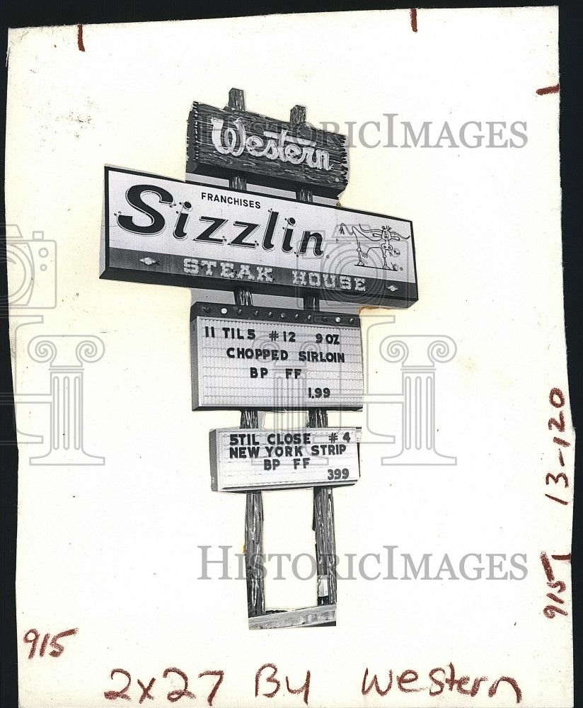 Press Photo Columbus Ga Western Sizzlin Steakhouse From