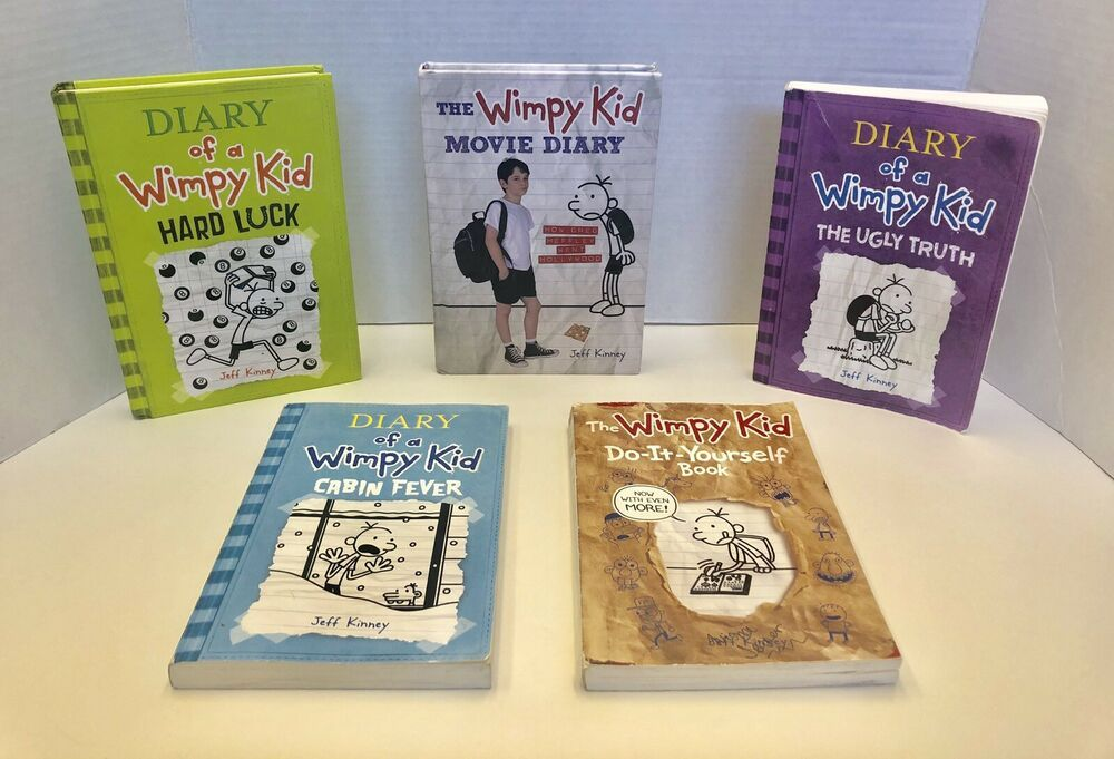 Lot Of 5 Jeff Kinney Diary Of A Wimpy Kid Books S 5 6 8 Movie Diary Diy Wimpy Kid Books Wimpy Kid Diary Diy