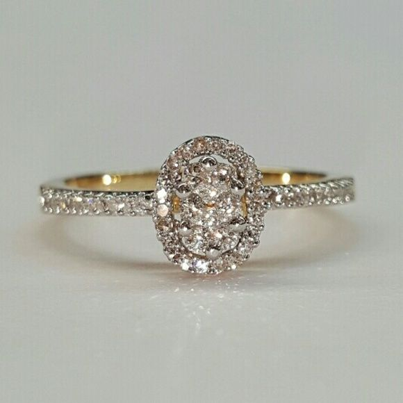 0 43 Ct natural diamond 14k solid gold ring Very beautiful natural