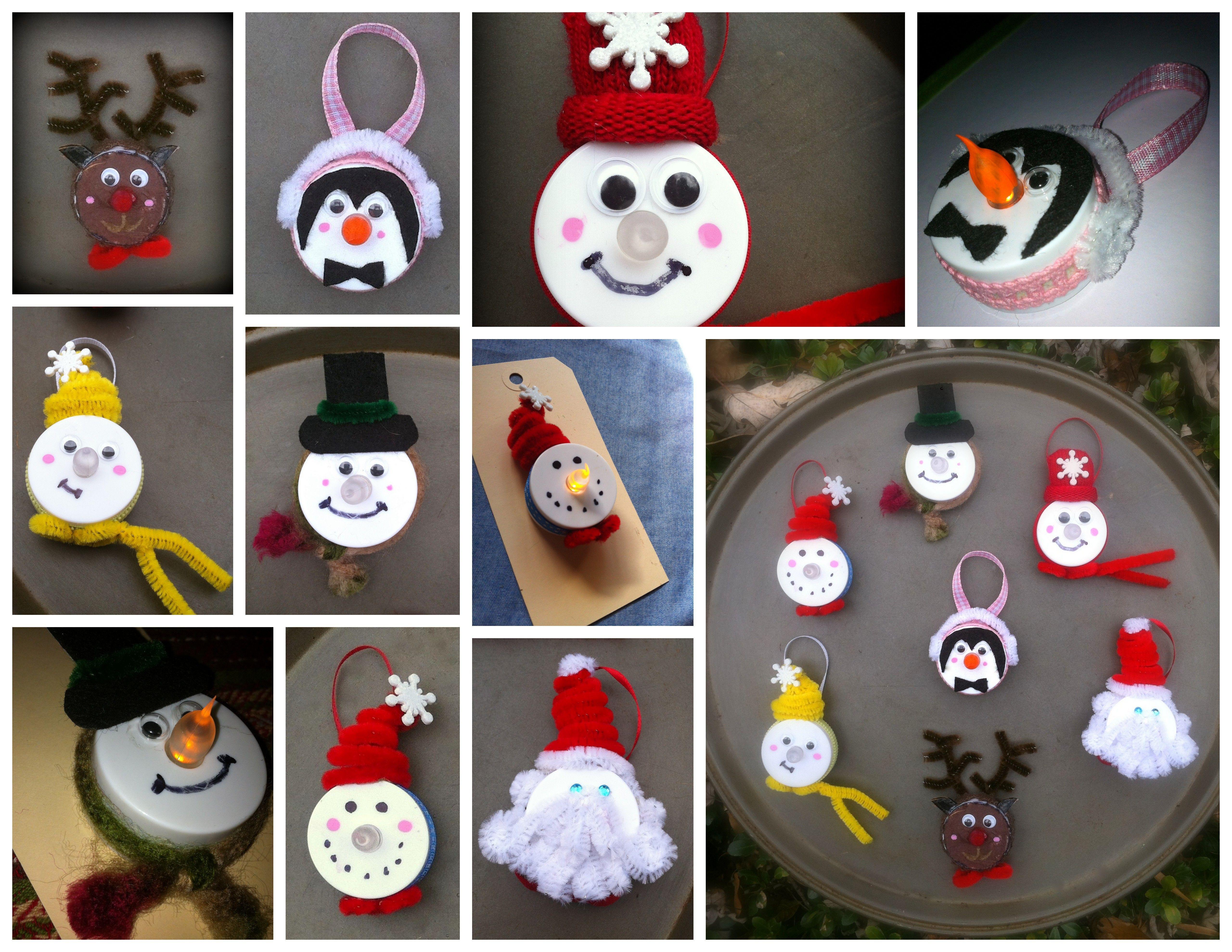 Tea Light Magnets Ornaments Christmas Ornament Crafts Tea Light Crafts Xmas Crafts