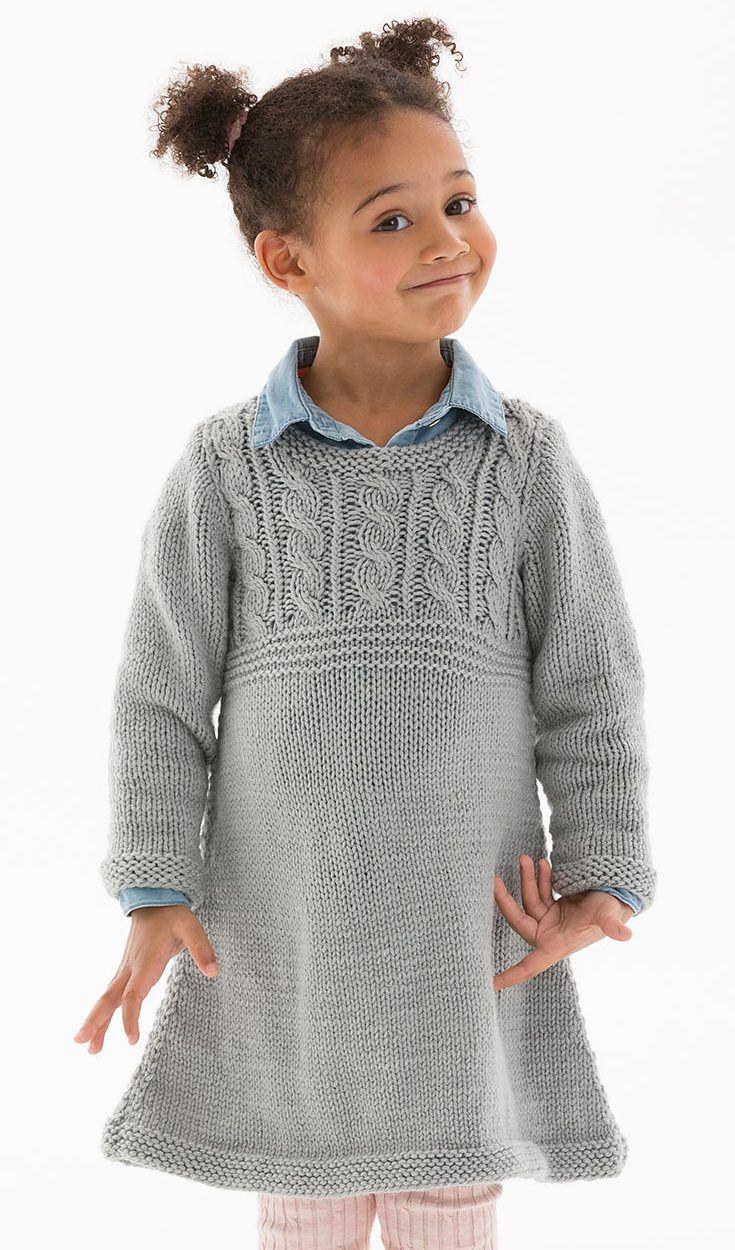 Dresses and Skirts for Children Knitting Patterns | Pinterest | Easy ...