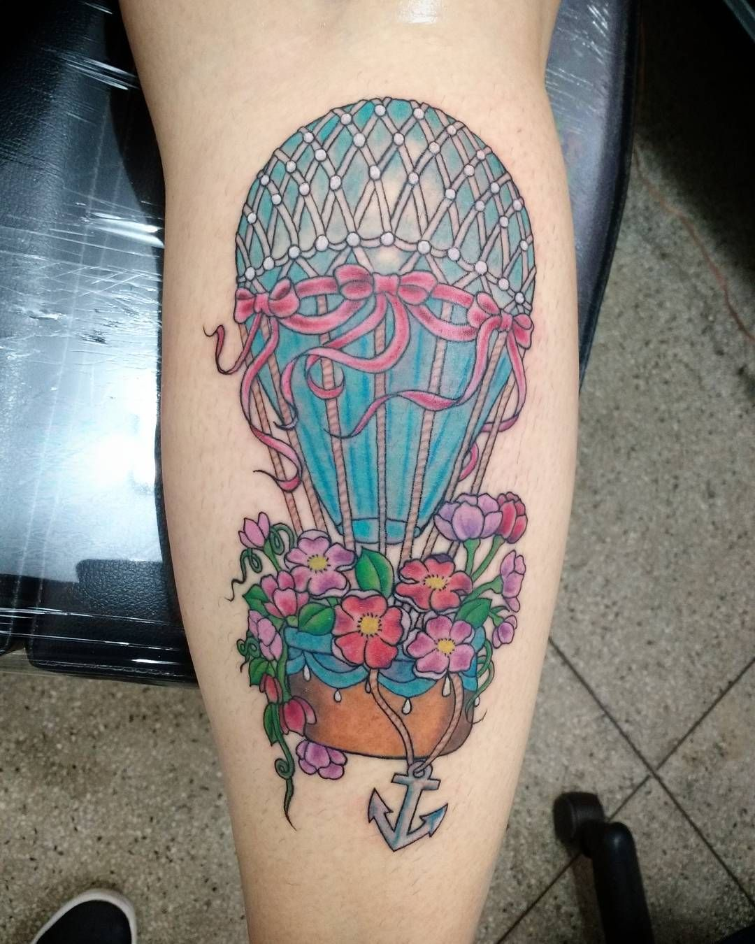 Pin By Alice C On Tattoos Balloon Tattoo Watercolor Tattoo Tattoos