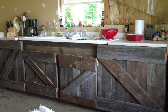 Barn Wood Kitchen Cabinets Barn Wood Cabinets Barn Kitchen