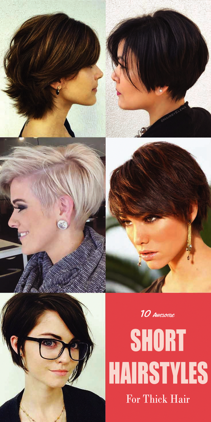 Short Hairstyles Are The Best Choice For The Working Women For Its Low Maintenance Feature Short Hair Styles Short Hairstyles For Thick Hair Thick Hair Styles