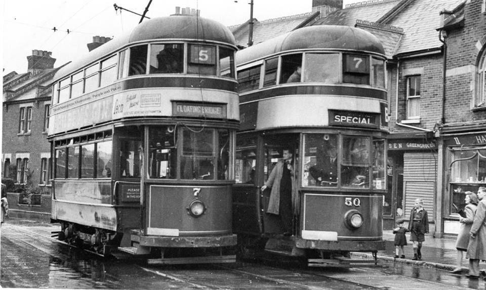 Corporation tramways nos 5 7 at shirley terminus