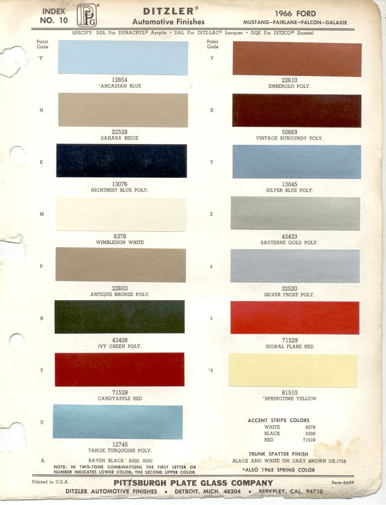 Paint chips 1966 ford cars and trucks pinterest paint chips color chart for car paint 1966 ford mustang nvjuhfo Choice Image