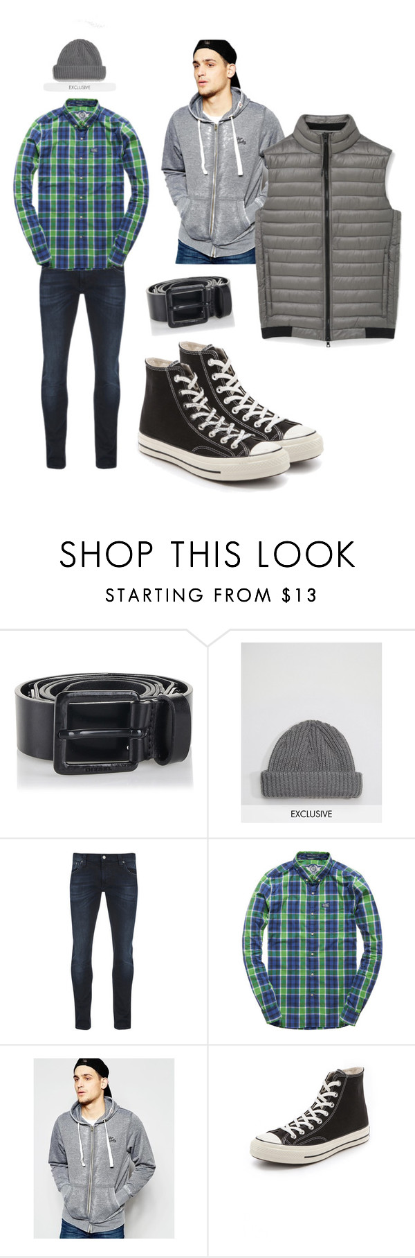 """""""~02"""" by hyperboi ❤ liked on Polyvore featuring Diesel, Reclaimed Vintage, Nudie Jeans Co., Superdry, Tokyo Laundry, Converse, MANGO MAN, men's fashion and menswear"""