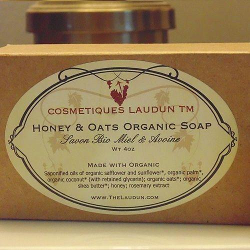Honey & Oats Organic Soap from COSMETIQUES LAUDUN™ on OpenSky