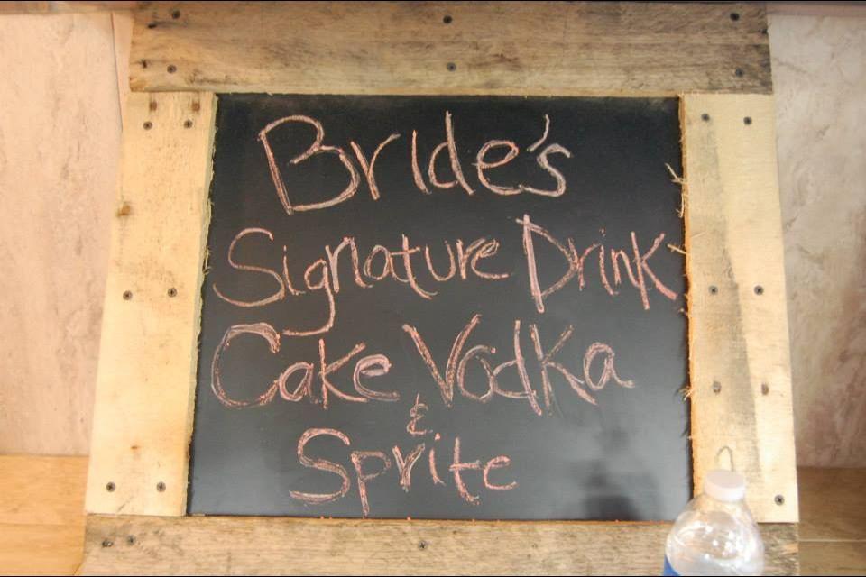 Brides signature drink