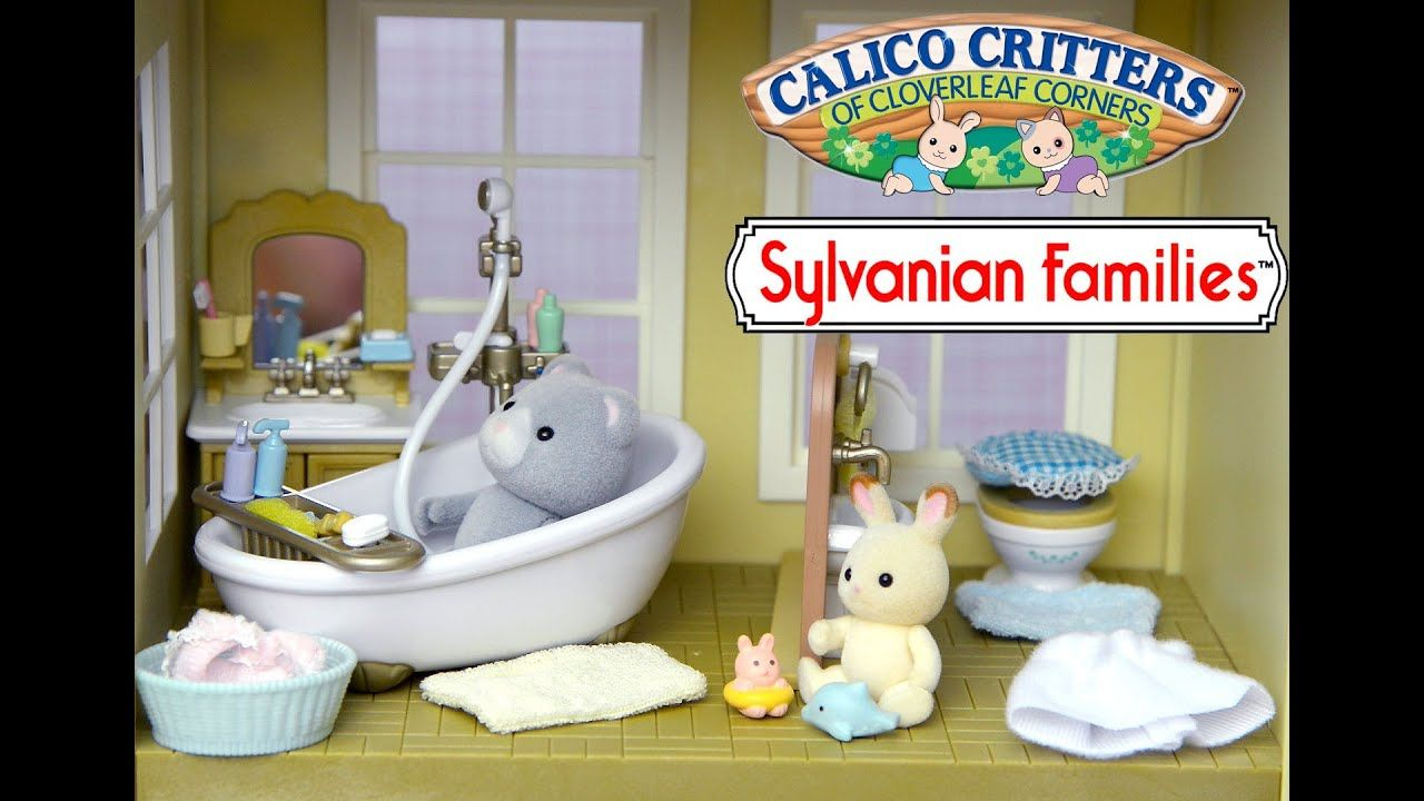 Sylvanian Families Calico Critter Country Bathroom Set Unboxing And Play Rabbit Bear Kids Toys Ani Kids Toys Sylvanian Families Calico Critters Families