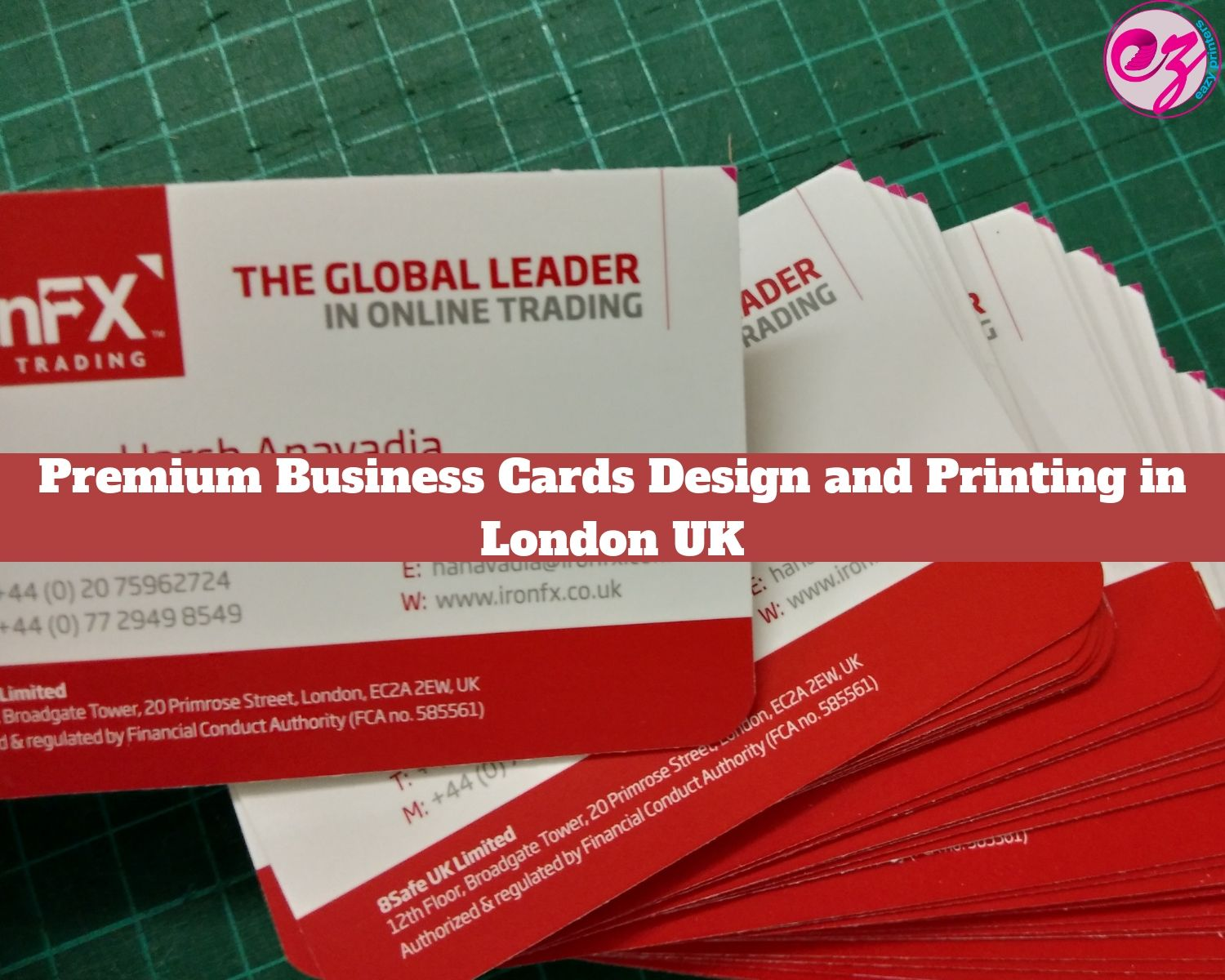 Premium Business Cards Design And Printing In London Uk Business Card Design Premium Business Cards Double Sided Business Cards