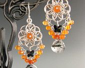 Helm Circle Chainmaille Earrings with Citrine. $65.00, via Etsy.