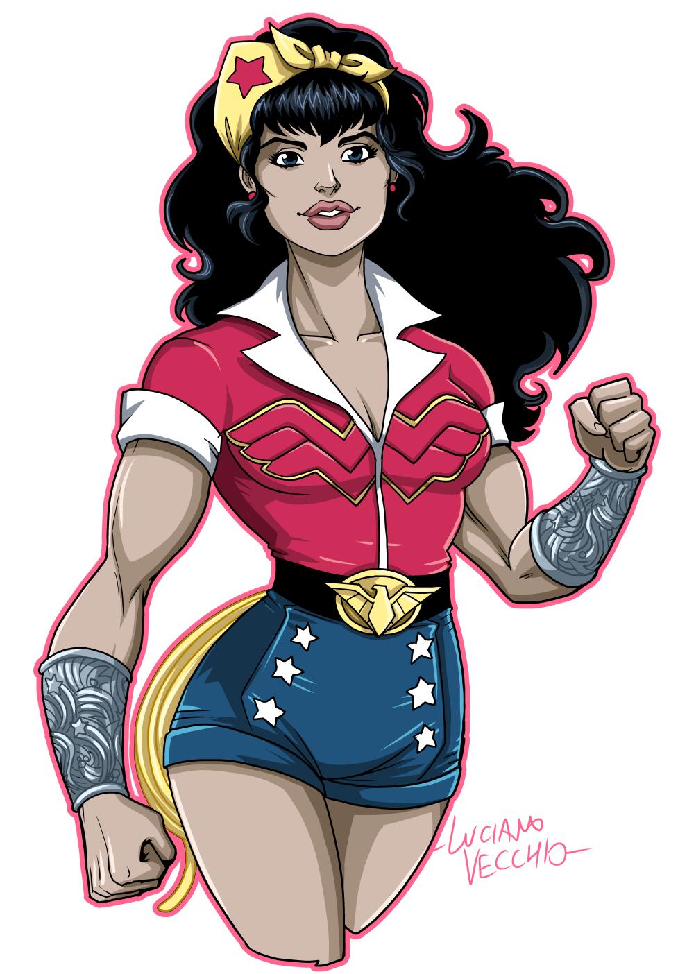 Dc Bombshells Wonder Woman By Lucianovecchio Wonder Woman Wonder Woman Drawing Black Lives Matter Art