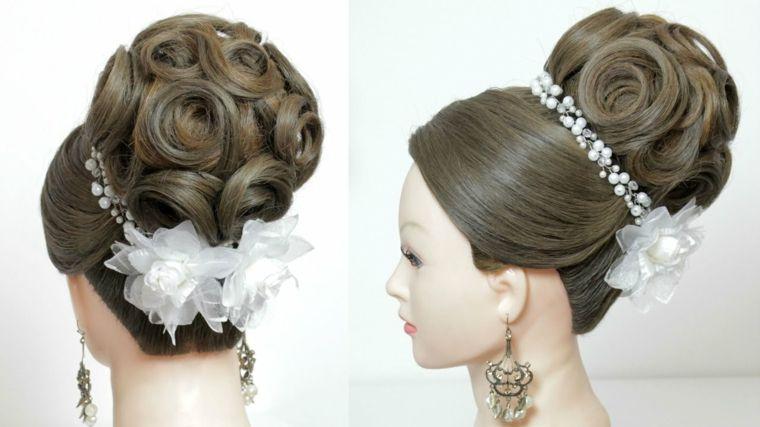 Recogidos para bodas muy modernos y elegantes Peinados Pinterest
