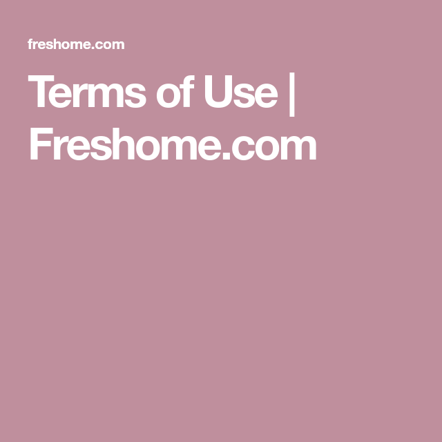 Terms Of Use Freshome Com Study Skills Terms Skills