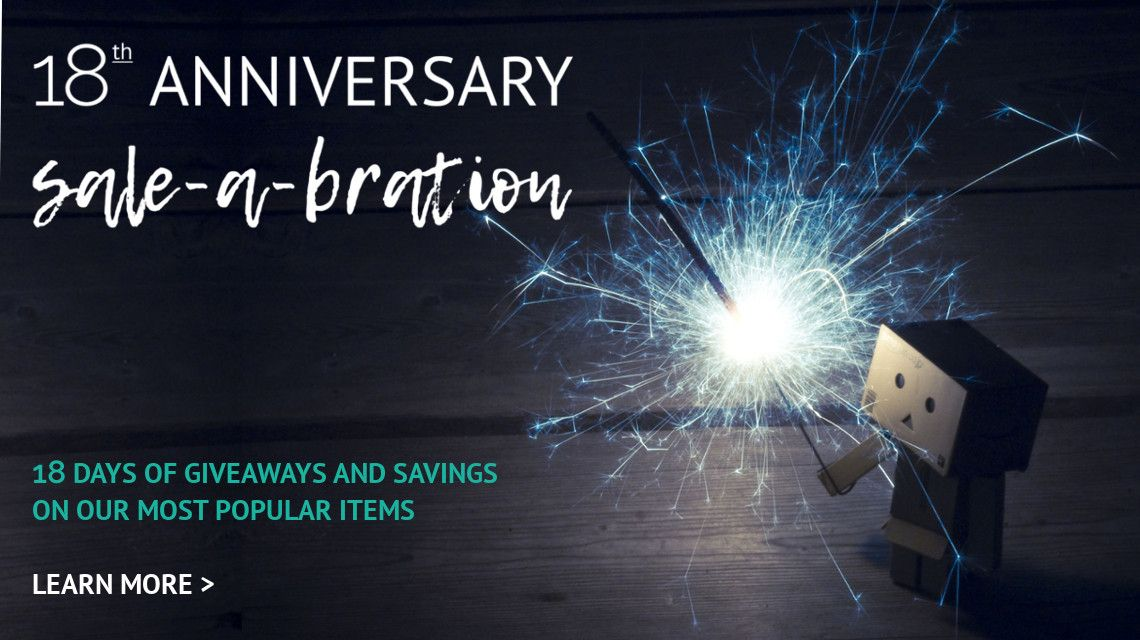 Online Metals is celebrating its 18th Anniversary with 18 days of giveaways and sale-a-bration deals! Special savings on our most popular items including aluminum, brass, and steel!