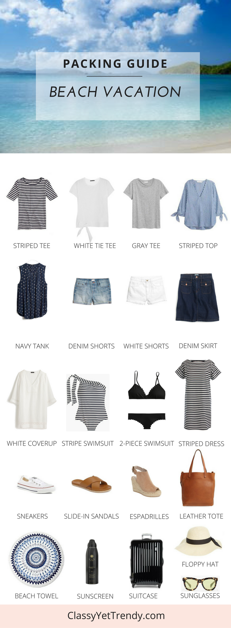 Packing Guide: Spring Break At The Beach #beachvacationclothes