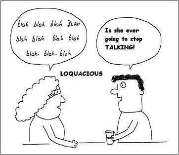 what does the word loquacious mean