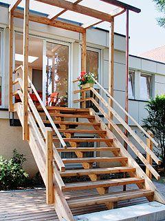 Schön Zimmerei Fleck | Leistungsangebot - Treppen für Draussen | Garten  QV51