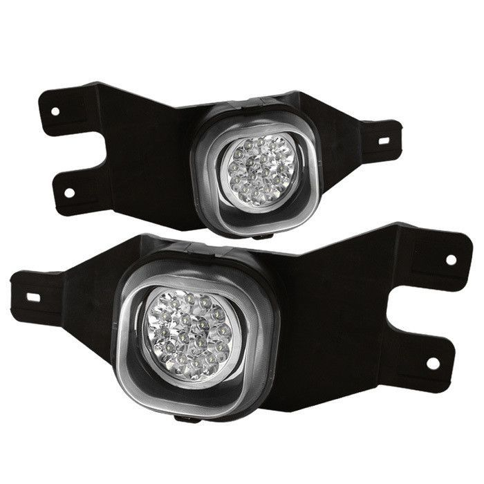Spyder Ford F250 F350 99 04 Ford Excursion 00 05 Led Fog Lights W Switch Clear Ford Excursion Ford F250 Led Fog Lights