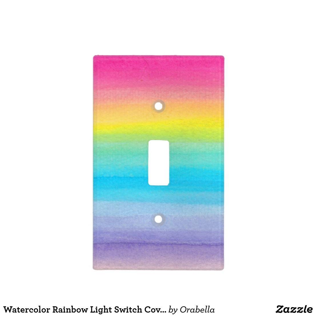 Watercolor Rainbow Light Switch Cover Zazzle Com Rainbow Girls