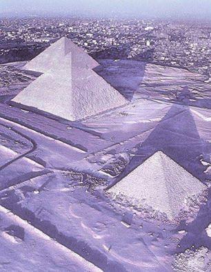 Snow on the pyramids